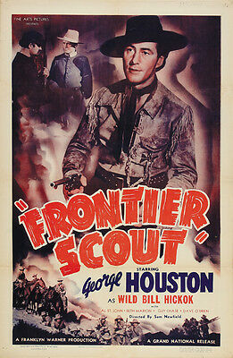 1938 George Houston Western Cult movie poster print 2 Frontier Scout