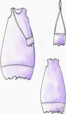 vestido globo bali talla M Patrones de corte 44//46 Lagenlook vestido