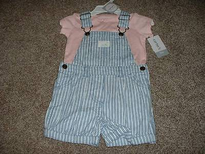 Carter's Baby Girls Wildflower Shortall Set Size 9 Months 9M NWT NEW 6-9 mos