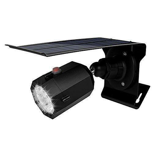 Solar LED Light Outdoor Senser Simulation Fake Camera Home Street Garden Lamp
