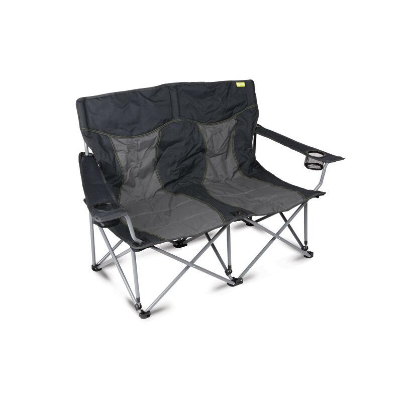 Lofa ZusamSiefaltbar Leicht Zelten Doppel Sofa 2 Sitzer Grau Kohlen Sitz Stuhl