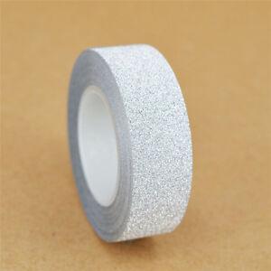 10M DIY Glitter Self Adhesive Washi Masking Tape Sticker Craft Decor New