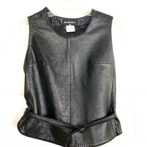 Ann Demeulemeester Womens Tank Top Black Sleeveles