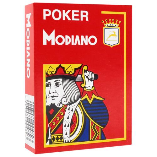 4 Corner Modiano Poker 100/% Plastic Playing Cards Jumbo Index