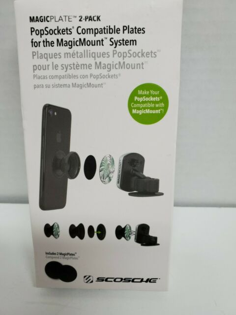 MPRNDRK-SP MagicPlate PopSocket Compatible Metal Plates For Use Any MagicMount