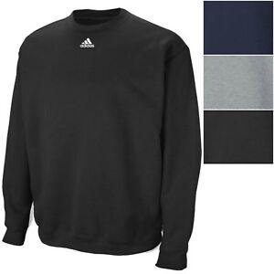 adidas Men's 9 oz Fleece Crew Sweatshirt Athletic Long Sleeve Pullover Shirt