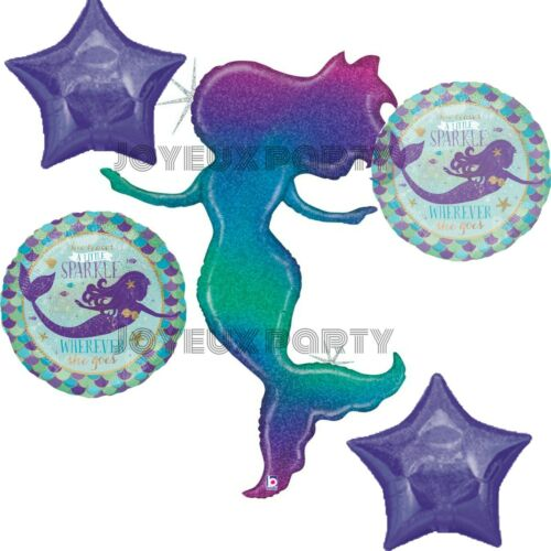 Cake Table Glittering Mermaid Foil Balloons Party Kit Party Backdrop Sign