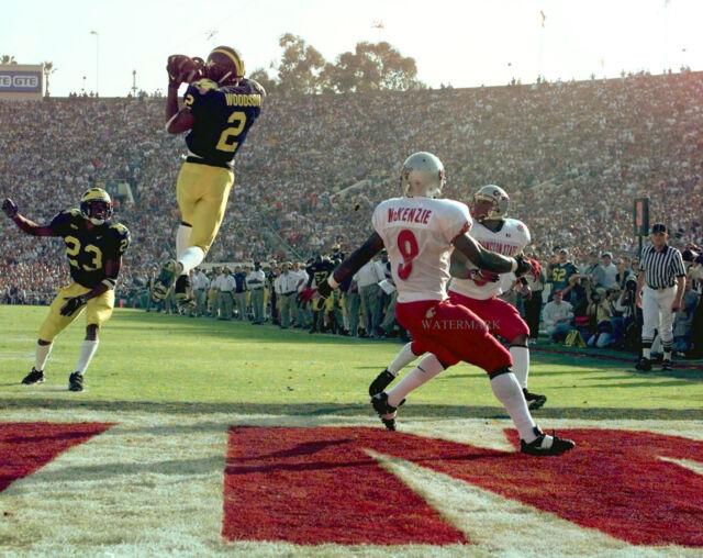 0c1e8eabd49 Charles Woodson 1998 Rose Bowl Game Michigan Wolverines 8x10 Photo ...