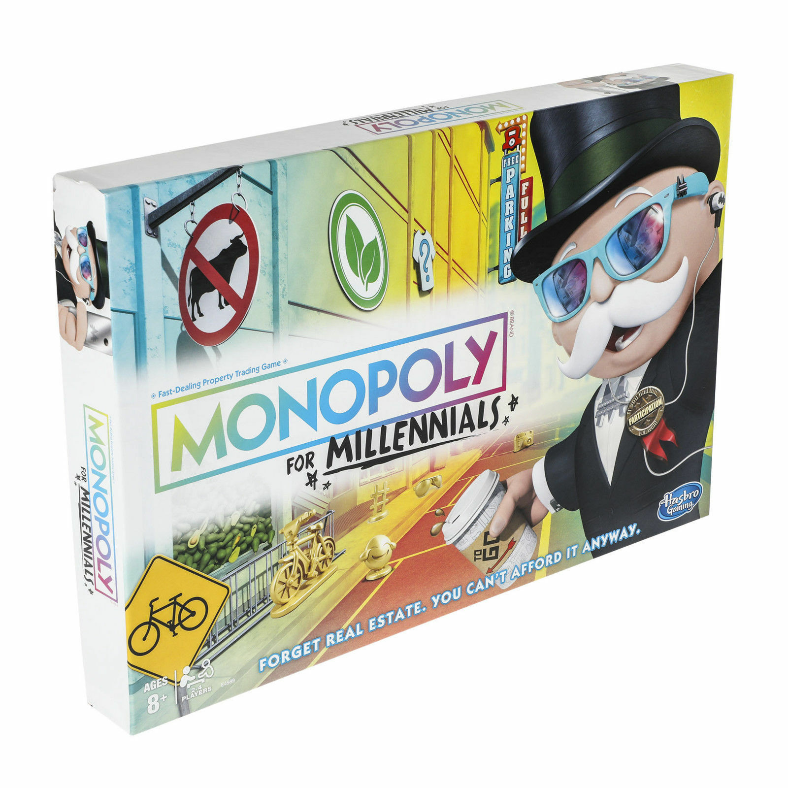 MONOPOLY FOR MILLENNIALS MILLENNIALS MILLENNIALS MILLENIALS MILENNIALS BOARD GAME Ages 8+ e8f096
