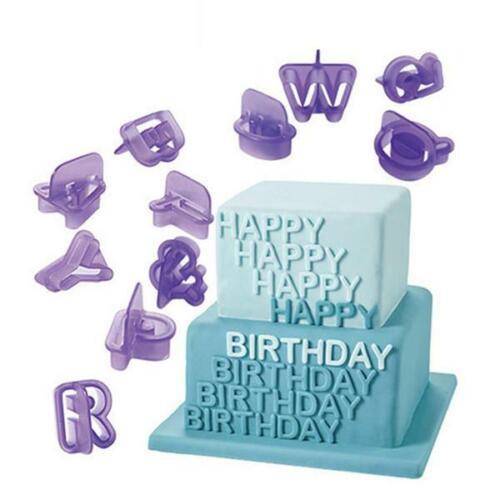 Icing Cutter Mold Mould Alphabet Number Letter Fondant Cake Decorating HS3
