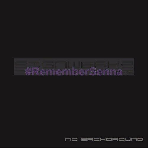 # Remember Senna decal sticker Euro Racing F1 Marlboro Ferrari Pair