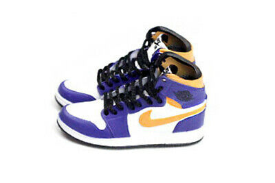 """2/"""" Mini sneaker AIR JORDAN 1 HIGH OG SHATTERED BACKBOARD fit Enterbay 1:6 Figure"""