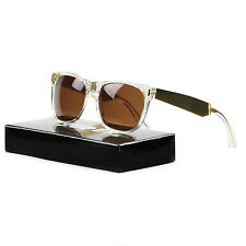 RETROSUPERFUTURE Super Classic Sunglasses 892 Francis Crystal Gold / Brown Lens