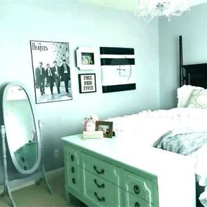 Plain Mint Green Bedroom Wallpaper Thick Textured Paste The
