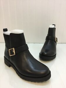Women-Vionic-Mystic-Mara-Black-Leather-Moto-Monk-Strap-Ankle-Boots-Size-8-NIB