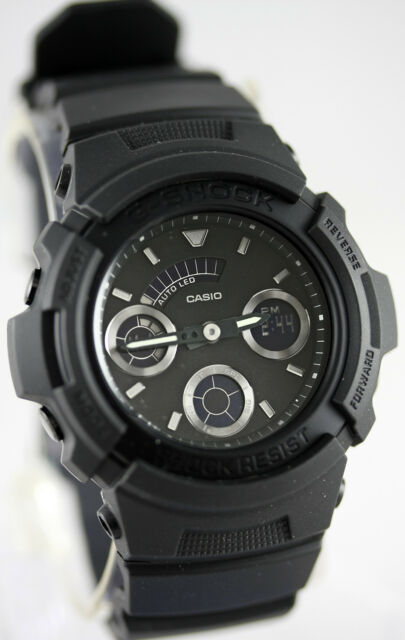 Casio G Shock Men S Matte Black Ana Digi World Time Watch Aw591bb 1a