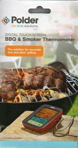 Polder - Digitales Grill- und Smokerthermometer - Touch-Screen - rot - Neu   OVP