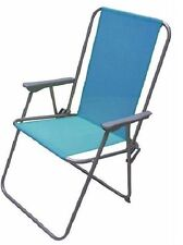 BLUE FOLDING GARDEN CHAIR PATIO DECK BBQ PICNIC FOLDABLE SEAT RELAX OUTDOORS