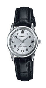a9c78400cd0a NEW Casio LTP-V001L-7B Women s Watch BLACK Leather SS SILVER-tone ...