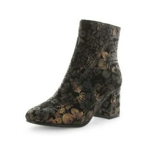 NEW Wilde Silvana Full Zip Closure Decorative Above Ankle Boot Floral Pattern