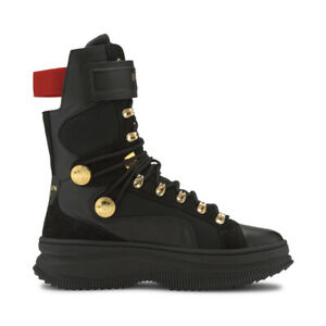 Puma Women's Deva Boot X Balmain Puma Black Sneaker Boots 37217801 NEW