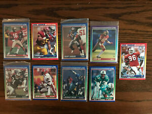 1990 Score Montana Seau Sanders Rice Jackson Sanders Football Cards Lot Raw