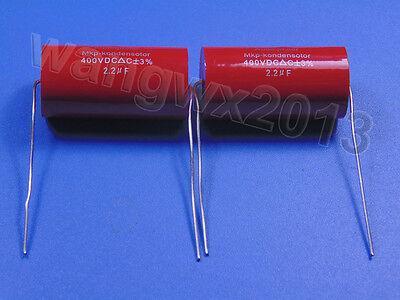 2pcs 400V 2.2uF MKP Crossover Membrane Polypropylene Non-Polarized Capacitor