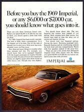 """1969 Chrysler Imperial LeBaron 2-door Hardtop photo """"Totally Restyled"""" print ad"""