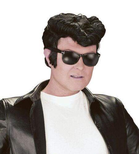 Greaser Style Wig Black Danny Teddy Boy 50/'s Wig Quiff  Fancy Dress Accessory