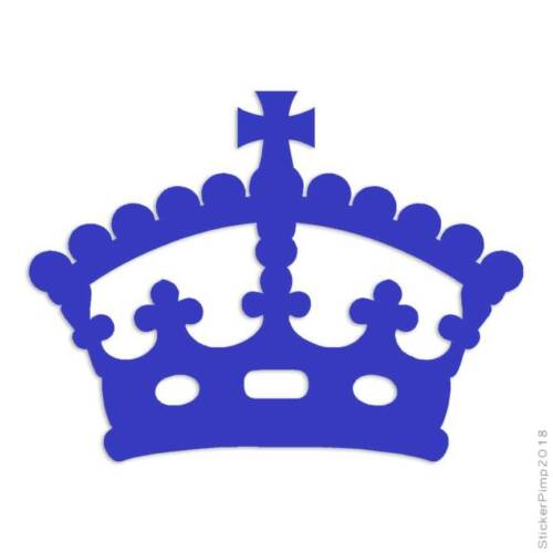 Royalty Crown Monarch Queen Decal Sticker Choose Color Size #3073