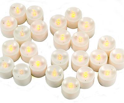 24pcs Nature/Tea Light Battery White LED Candle Wedding Party Christmas Gift Q45