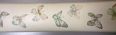 WK6846B Waverly Purple Ipanema Butterfly Wallpaper Border