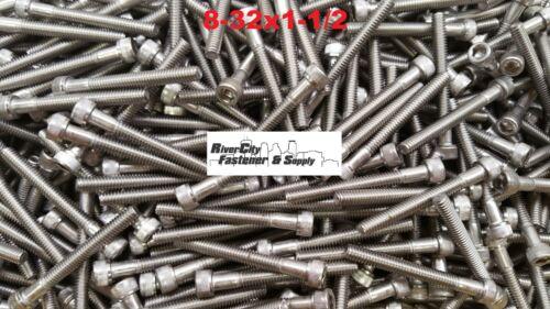 8-32x1-1//2 Socket Allen Head Cap Screw Stainless Steel #8 x 1-1//2 250