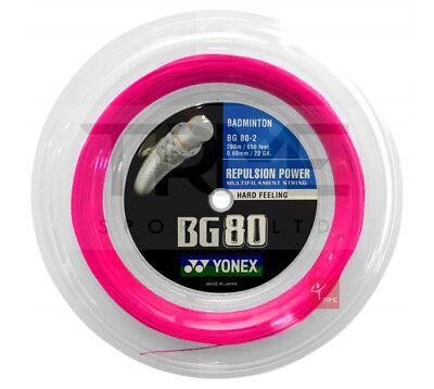 Yonex BG80 Badminton String 200m Reel - Neon Pink   eBay