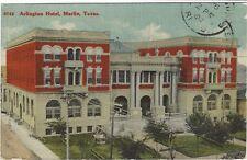 1911 postcard - Arlington Hotel, Marlin, Texas. Missent stamp on back.