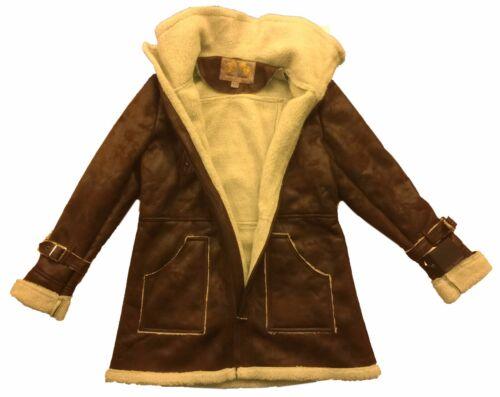 Steve Madden Ladies Women Faux Leather Suede Fur Bomber Coat Jacket