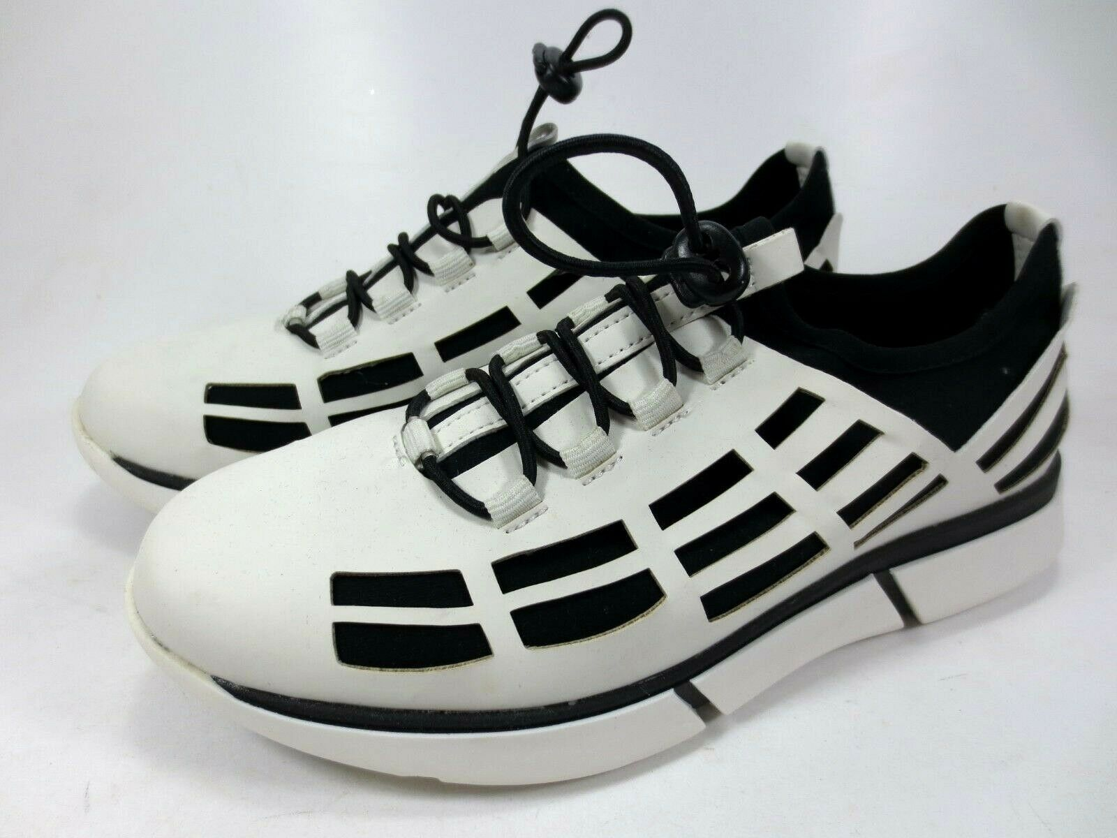 Gerry Weber Slipper scarpe da ginnastica Scarpe in Pelle Bianco Nero Nuovo 99,95 Scarpe Basse