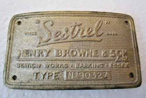 SESTREL Marine WOODEN Binnacle BRASS Builder/'s Plate 2482