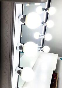 White Lighted Starlet Makeup Vanity Mirror New Ebay