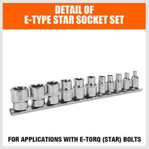 11pc 5-POINT Security Star Bit Socket Set Torx Star Tamper Proof Bits w// Holder