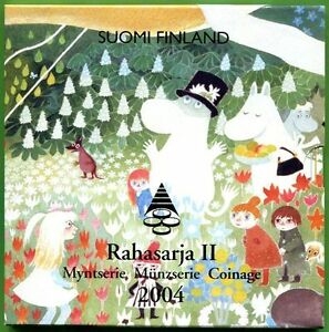 Finland 2004 : Moomins with the 2 euro commemorative!