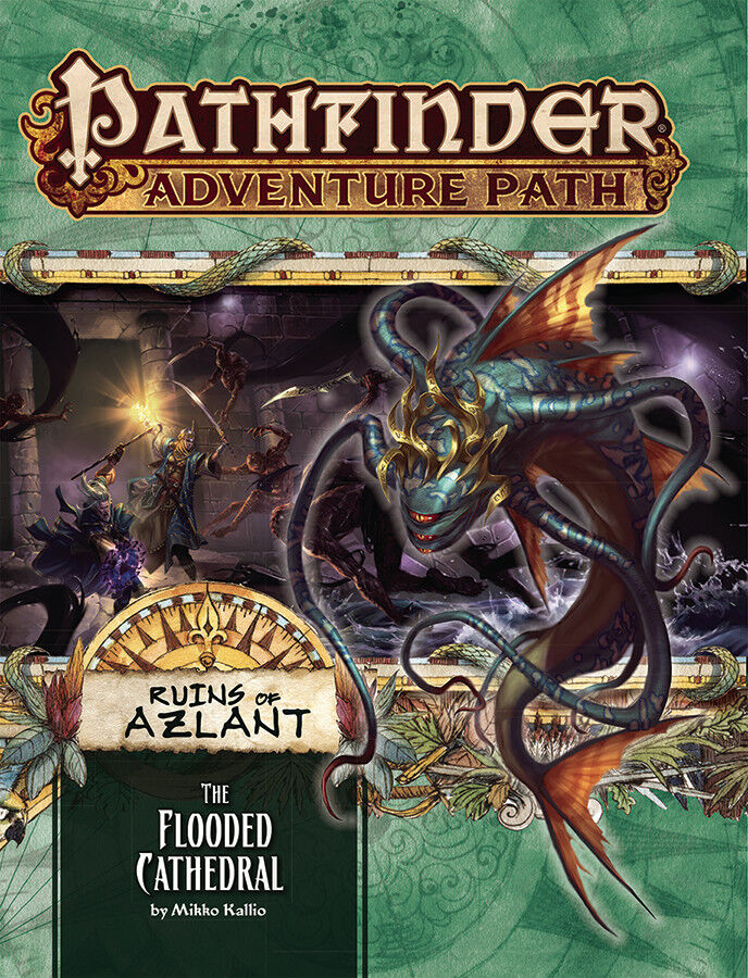Pathfinder Adventure Path RPG - Ruins of Azlant -The Flooded Cathedral