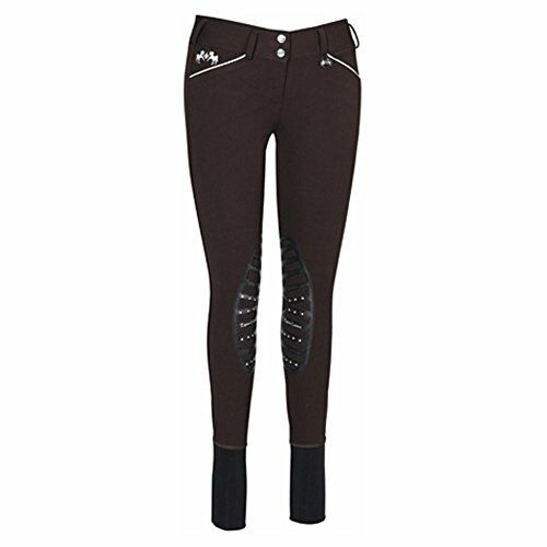 Equine Couture Women's Brittni Knee Patch Breech, Chocolate, 32