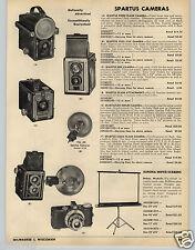 1953 PAPER AD Spartus Box Full Vue Flash Camera 35MM