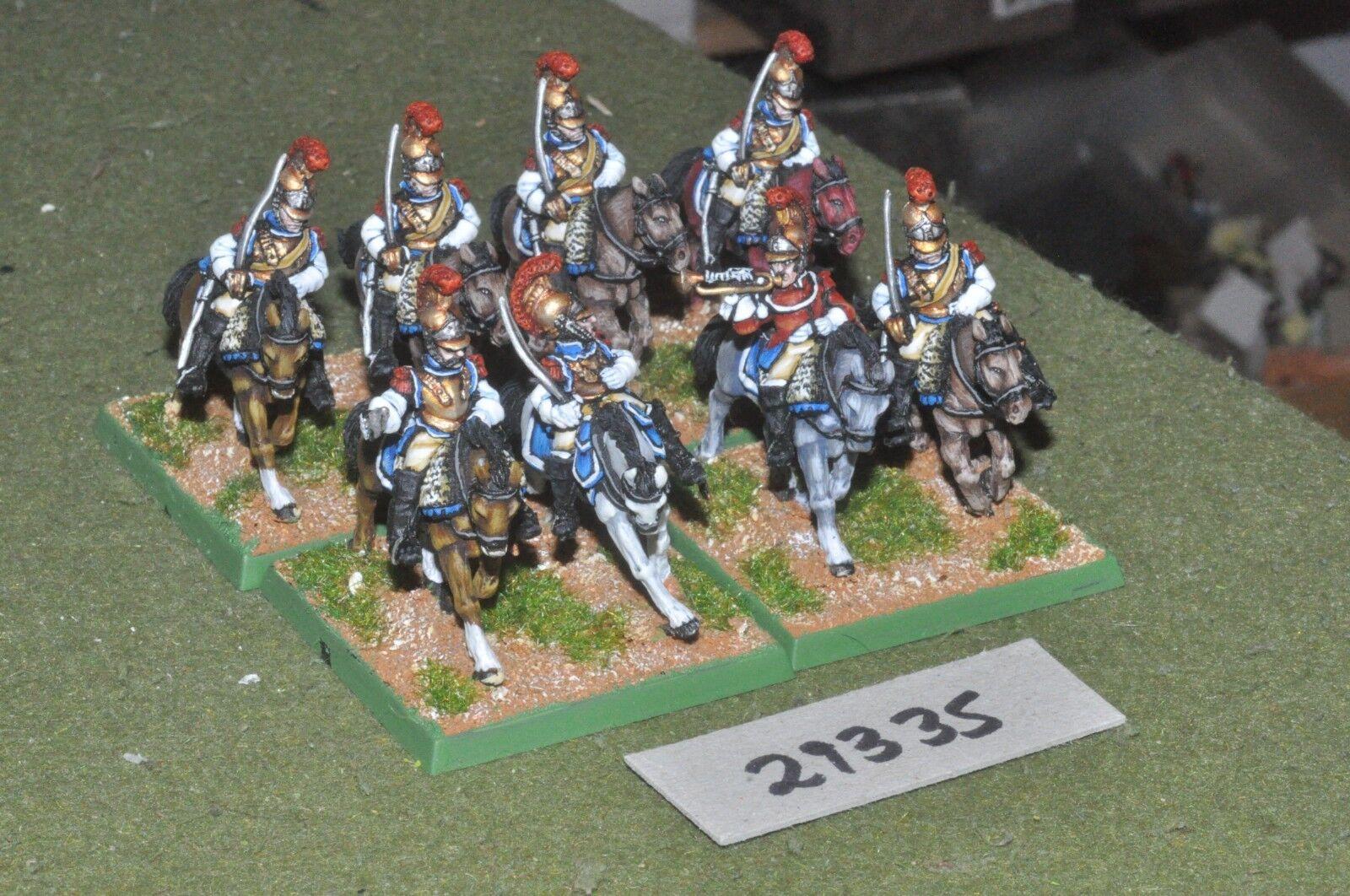 25mm napoleónicas francés-CARABINIERS 8 figuras-CAV (29335)
