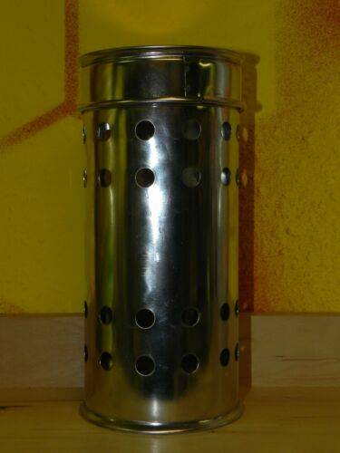 Maxi 9cm D Edelstahl f 20,5cm h Schwefelschnitten Imkerei,Imker Schwefeldose