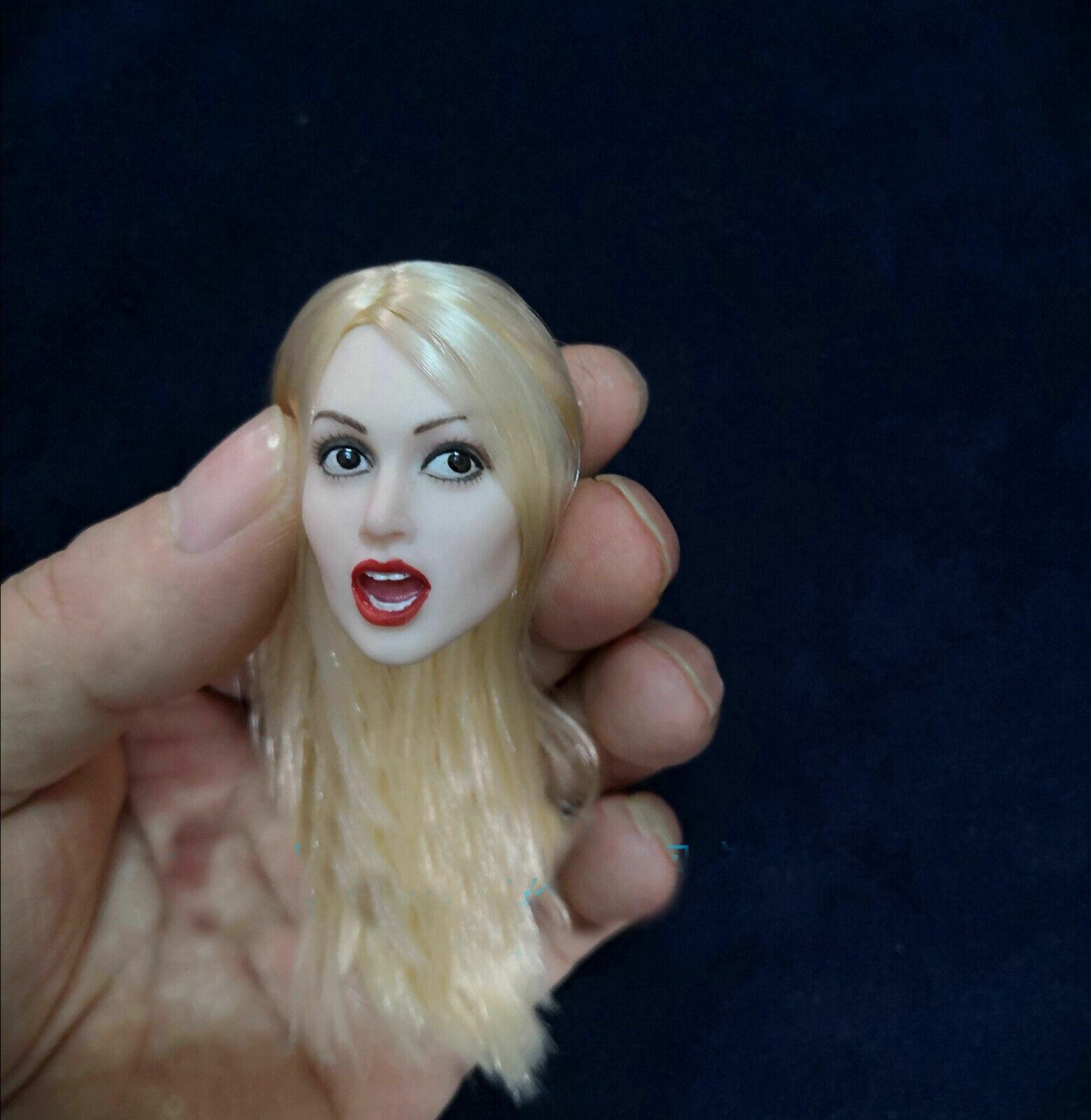 1 6 Female Female Female Head autovin Girl Head modello Blonde Hair Open Mouth Version F12'' corpo 54e493