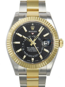 Rolex-Sky-Dweller-326933-Two-Tone-Steel-amp-Yellow-Gold-Black-Index-Dial-42mm