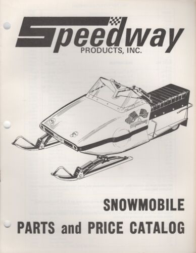 1972 SPEEDWAY SNOWMOBILE PARTS MANUAL PN 11230 019