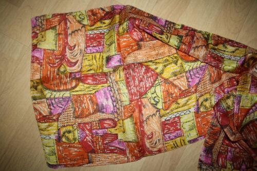 Seidenschal Tuch Halstuch Rot-Gelbtöne Muster 100/% Seide ca 32 x 160 cm Neu!